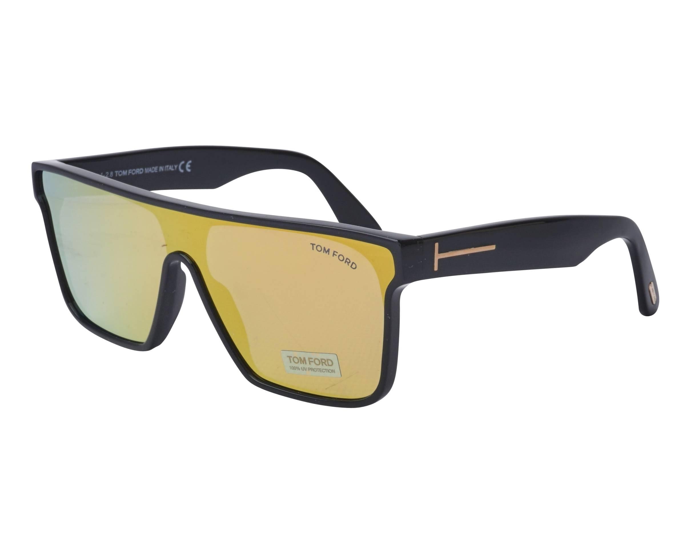 5dda7e2035 Gafas de sol Tom Ford TF-709 01G - Negra vista de perfil