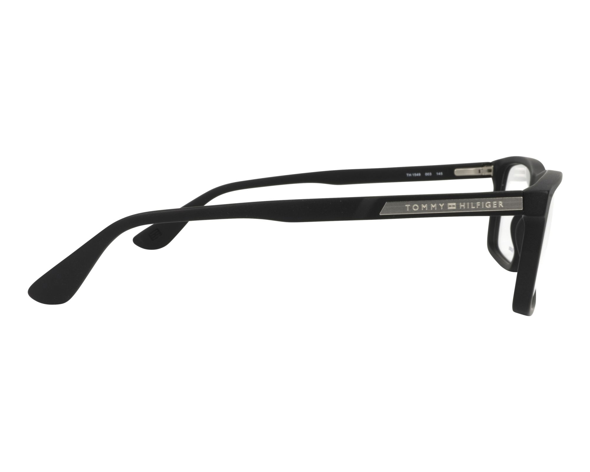 01e1558d4034b Gafas Graduadas Tommy Hilfiger TH-1549 003 55-16 Negra vista lateral
