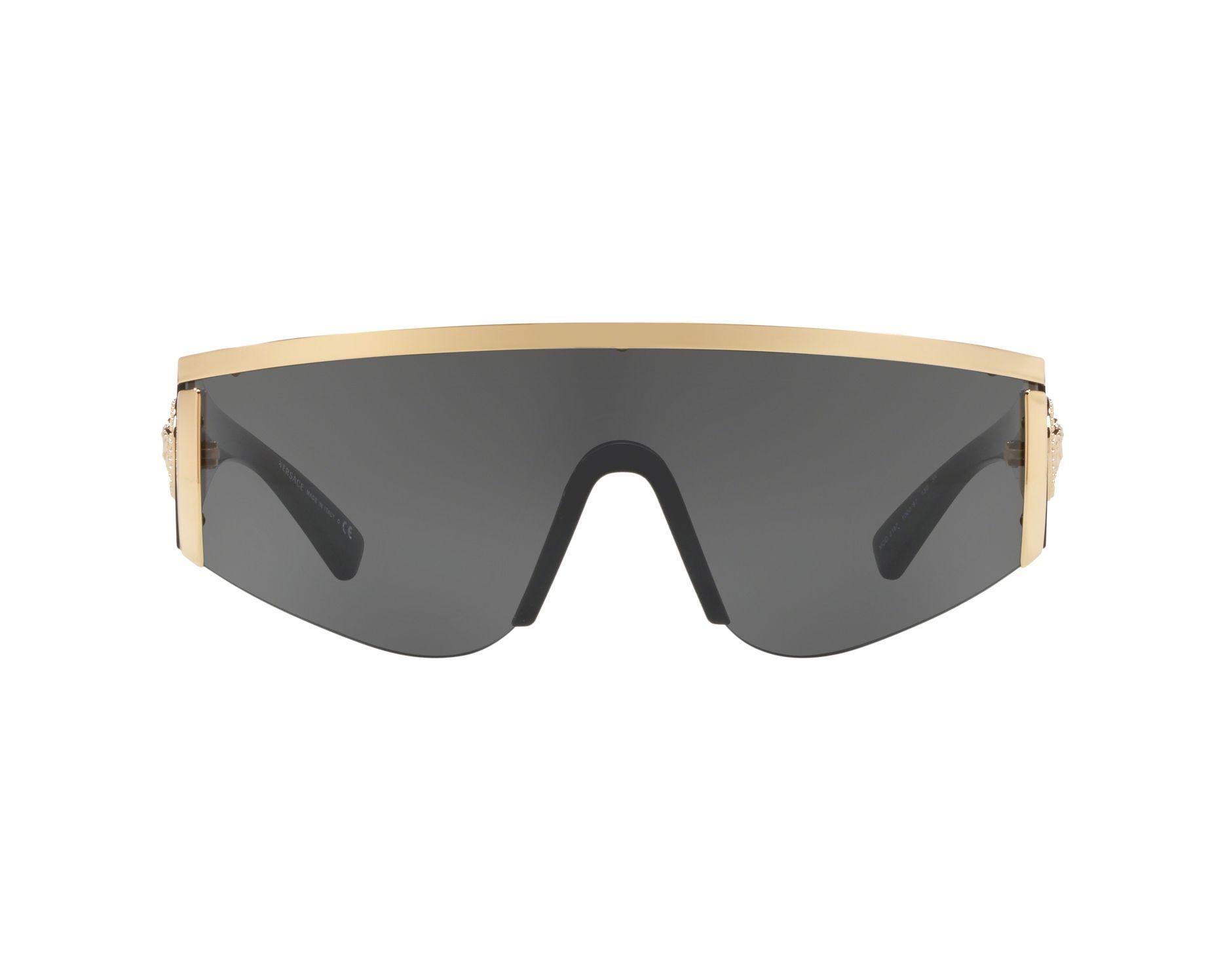 a2c0db7d7b Gafas de sol Versace VE-2197 100087 - Negra Oro Vista de 360 grados 1