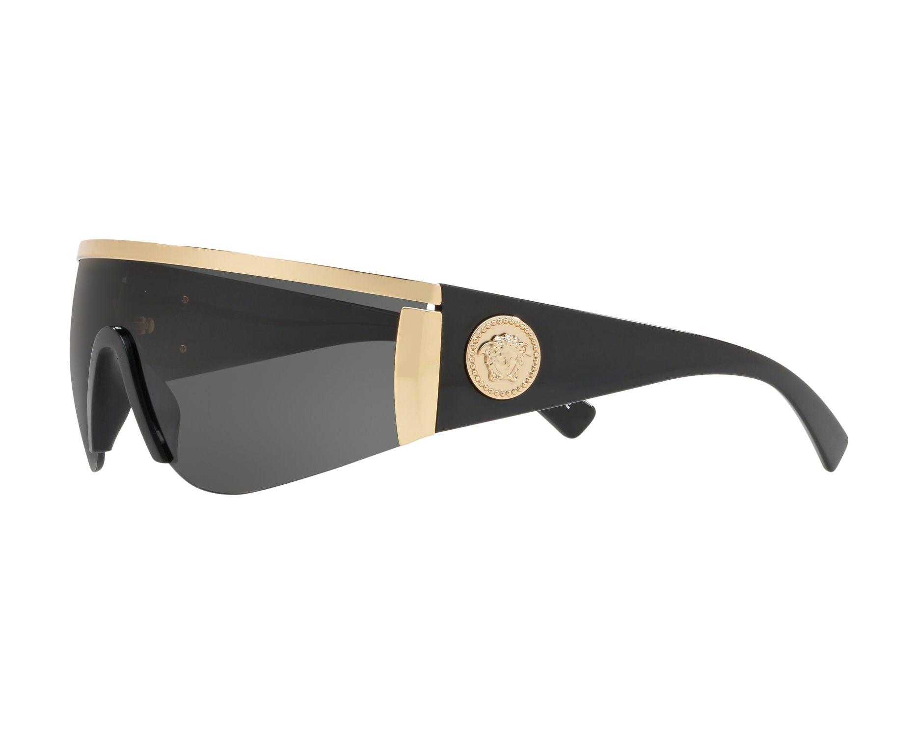 1ae3b5dc61 Gafas de sol Versace VE-2197 100087 - Negra Oro Vista de 360 grados 3