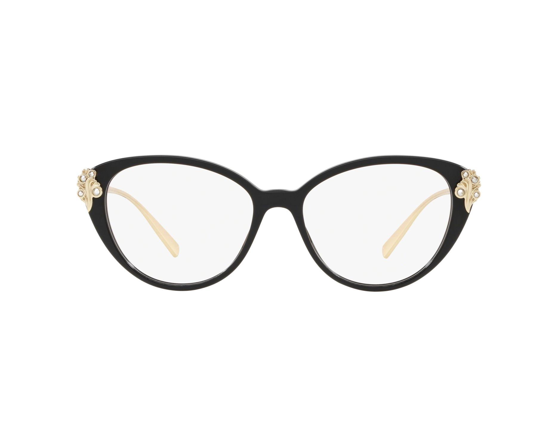 60115de3ad Gafas Graduadas Versace VE-3262-B GB1 - Negra Oro Vista de 360 grados