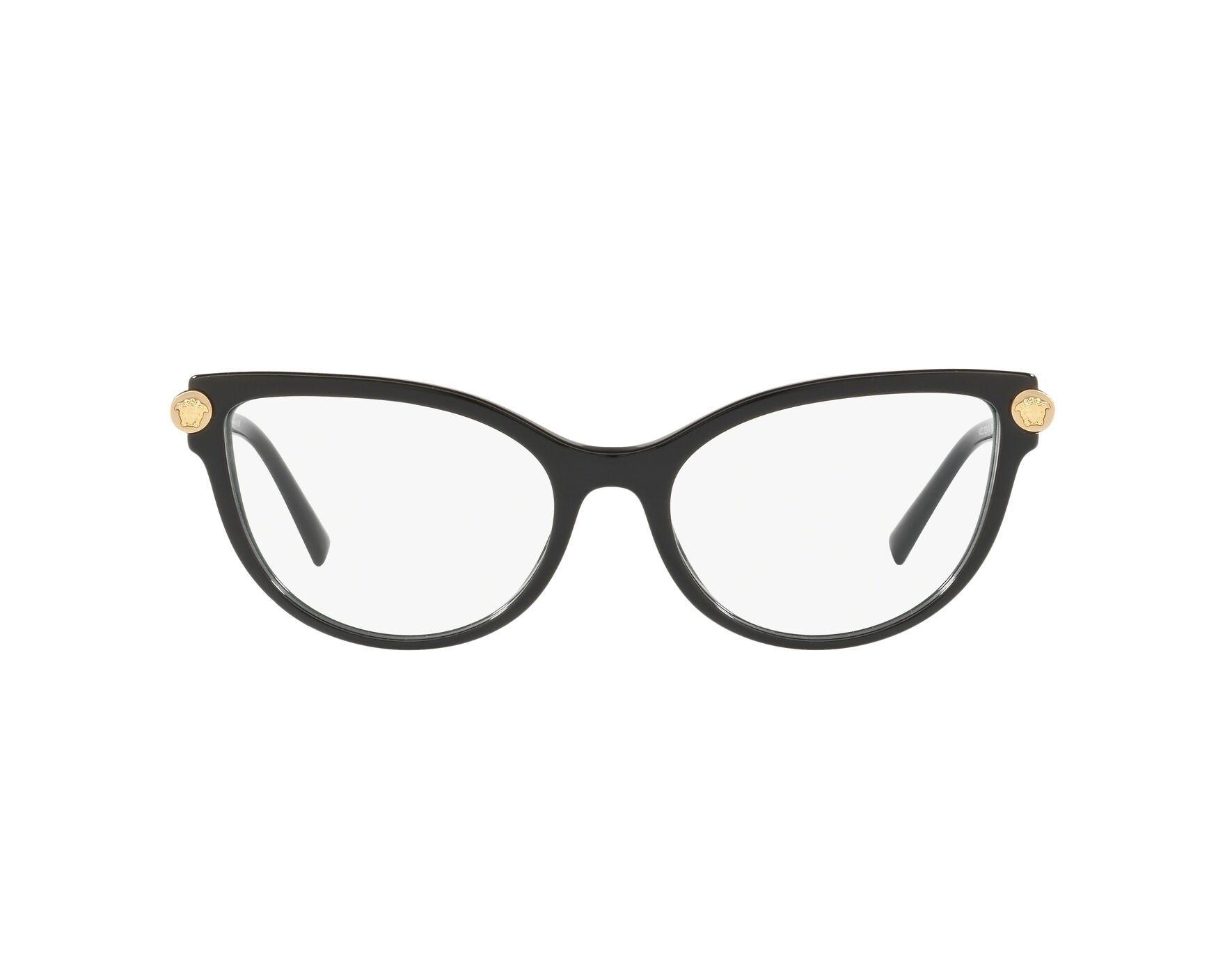 d74f4b0795 Gafas Graduadas Versace VE-3270-Q GB1 54-17 Negra Oro Vista de