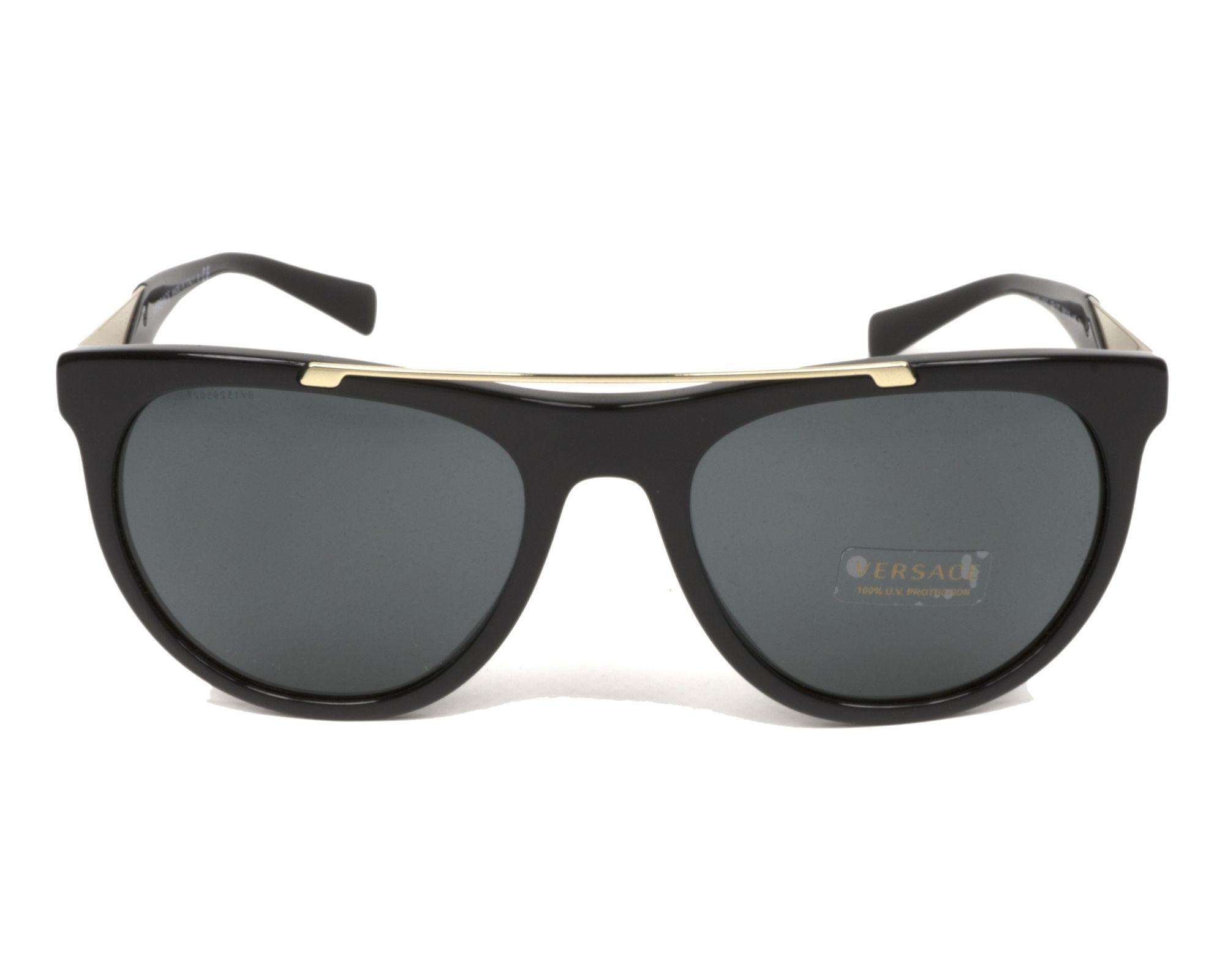 f63fb242eb Gafas de sol Versace VE-4347 GB1/87 56-19 Negra Oro vista