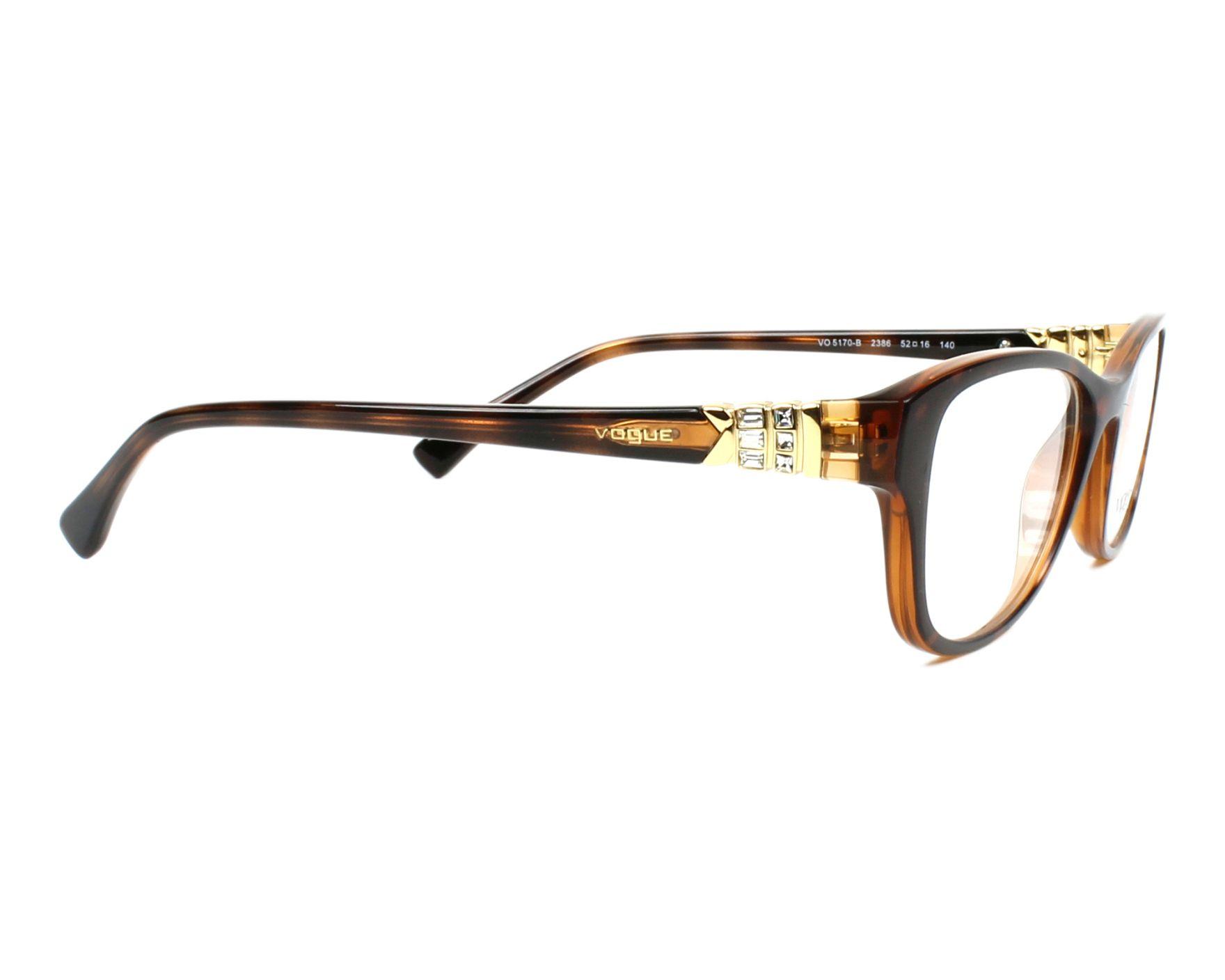 6f16852369 Gafas Graduadas Vogue VO-5170-B 2386 52-16 Havana vista lateral